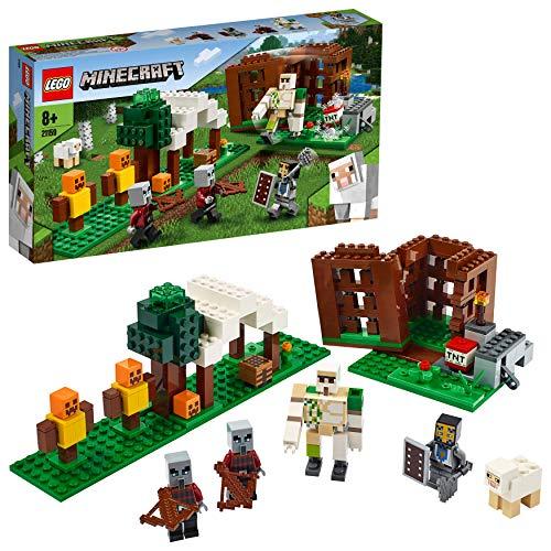 [amazon | prime] Lego 21159 Minecraft Der Plünderer-Außenposten, Bauset mit Eisengolem und Anderen Actionfiguren