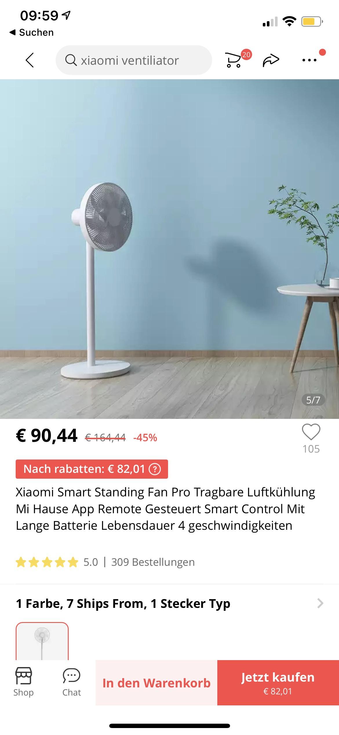 Xiaomi Smart Standing Fan Pro Ventilator Bodenventilator Windmaschine