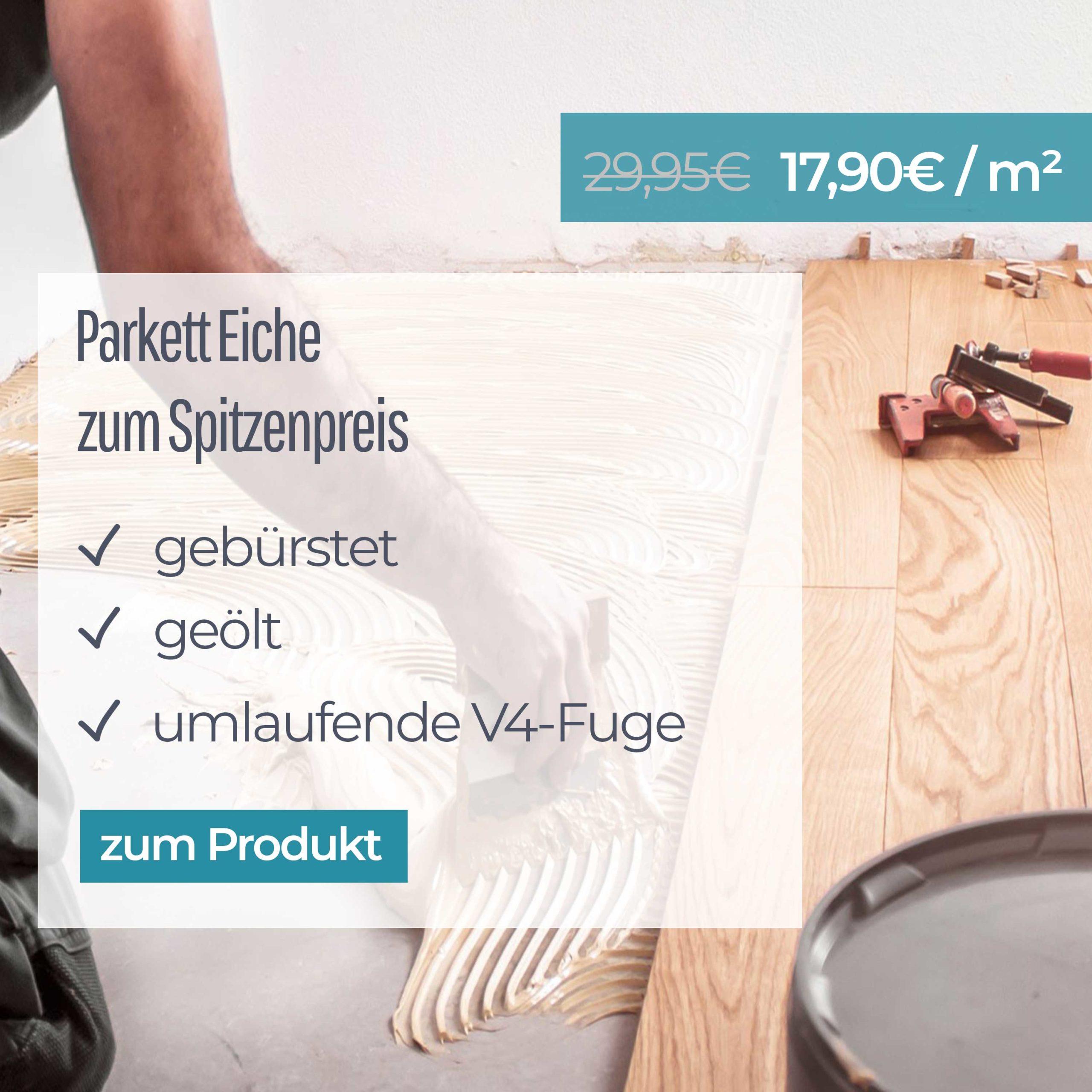 Parkett Eiche Premium [Lokal Berlin&BB] (2-Schicht Fertigparkett) gebürstet und geölt