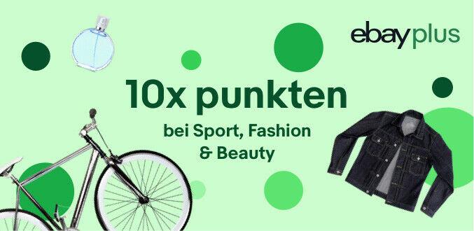 """[Ebay] 10fach Plus-Punkte auf Sport (z. B. Radsport/Outdoor) Mode, Beauty, Gesundheit, entspricht 10% """"Rabatt"""" + evtl. 2% Cashback"""