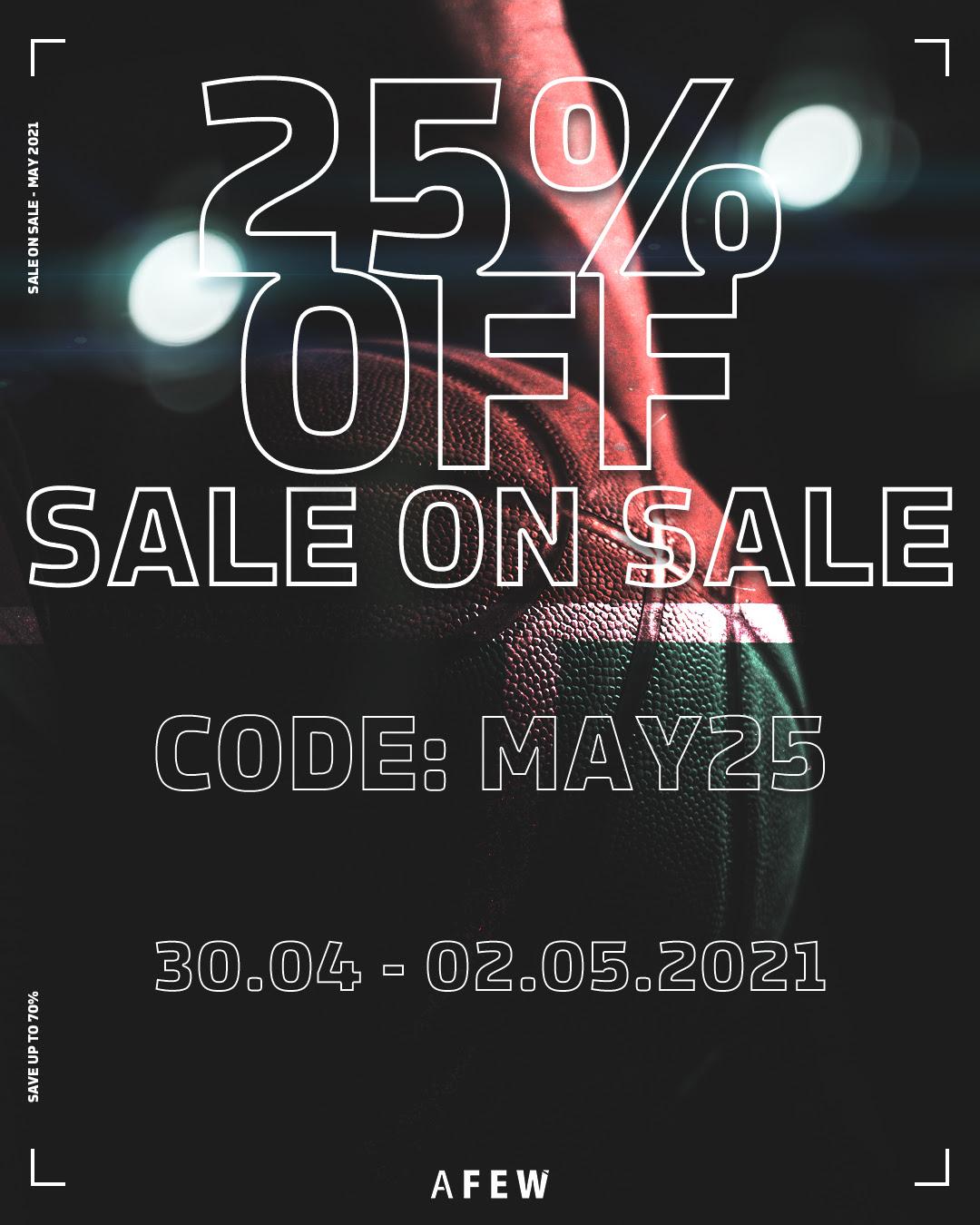 [afew.com] Sneaker und Streetwear - 25% auf Sale (ab heute Nacht!)