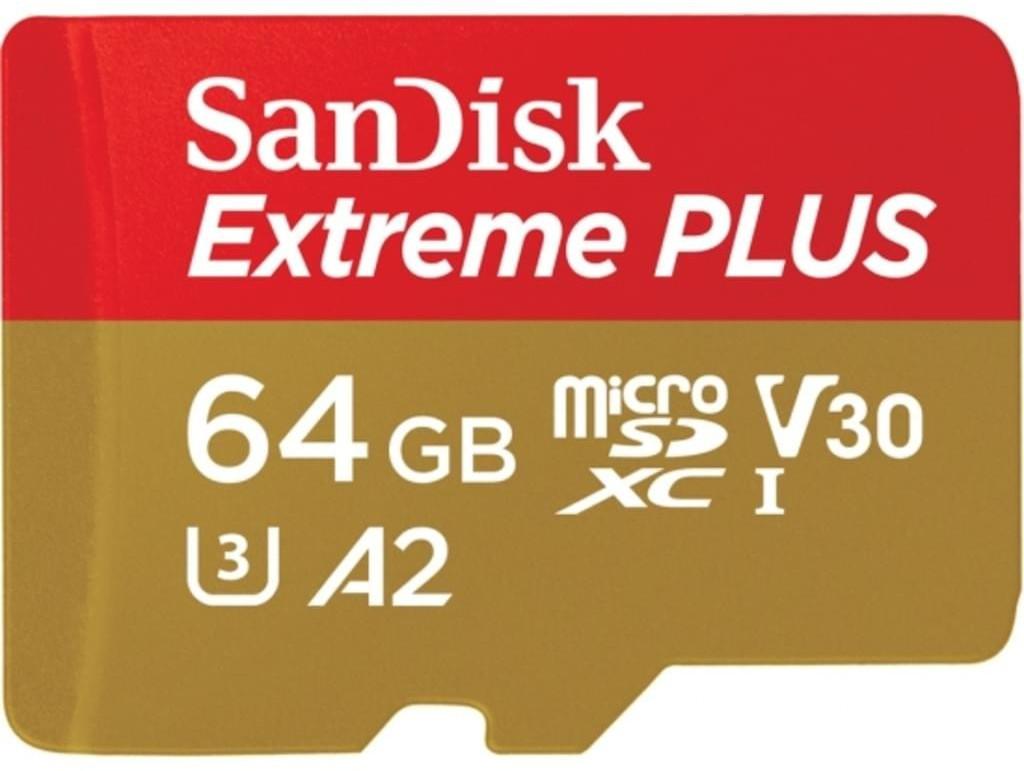 [Mediamarkt /Saturn ] SanDisk MicroSDXC 64GB Extreme Plus A2 UHS-I (V30) U3 4K geeignet + SD Adapter für 11,-€