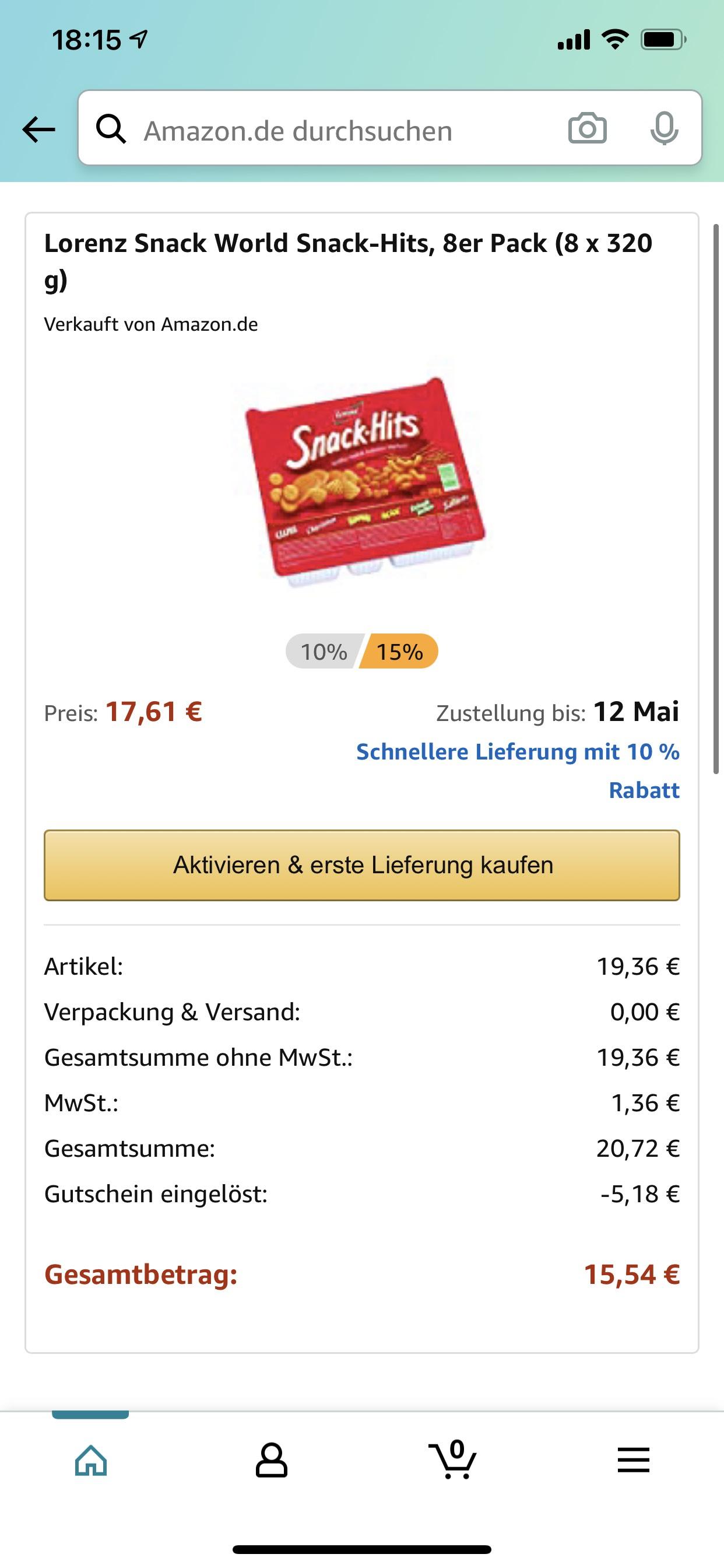 8 x Lorenz Snackhits