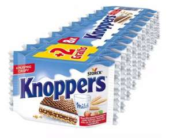 Knoppers Schnitte 10er Pack (2 Gratis) für 1,39 Euro [Penny]