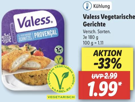 Valess vegetarische Gerichte für je 1,99€ / Veganz Protein Drink für 1,79€, Veganz Muffins 1,29€ und weitere Angebote
