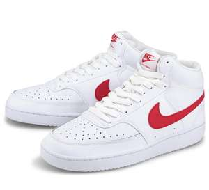 NIKE Sneaker COURT VISION MID Weiß-Rot