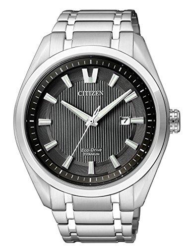 Citizen AW1240-57E Eco-Drive Super Titanium Schwarz Uhr