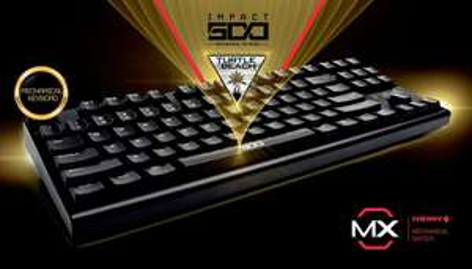 Turtle Beach IMPACT 500 DE - Mechanische Gamingtastatur mit Cherry MX Blue-Switches & DE-Layout