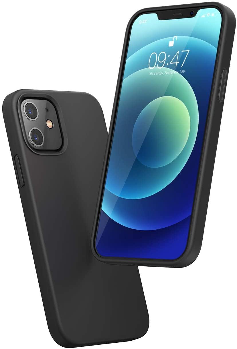 [Prime] Ugreen Silikonschutzhülle für iPhone 12 bzw. 12 Pro (Erhöhung an Display & Kamera, Textilbeschichtung innen)