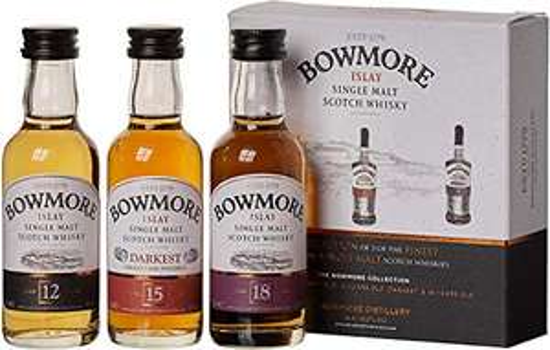 (prime) Bowmore Whisky Probierset - Mit 12, 15 und 18 Jahre je 0,05l