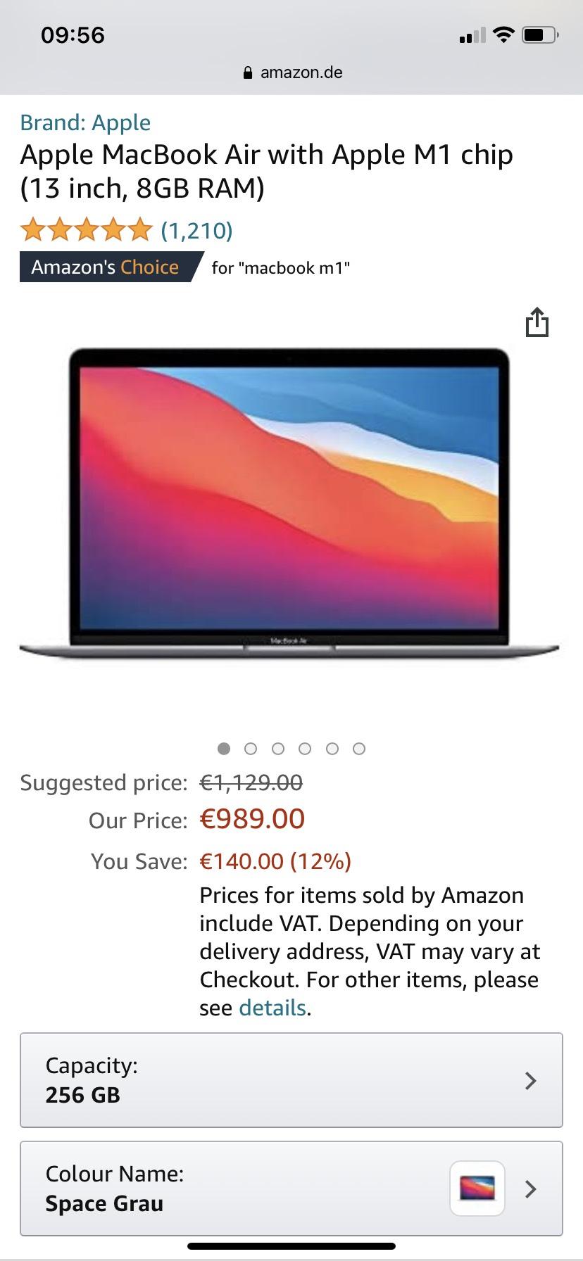 Macbook Air M1 (alle Farben)