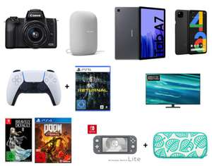 Canon EOS M50 Kit 15-45 mm 434€ | SONY DualSense Wireless-Controller + Returnal PS5 104,99€ | Samsung Galaxy Tab A7 32GB WiFi 149€ | u.a.