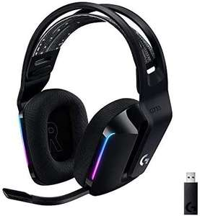 Logitech G733 Lightspeed kabelloses Gaming-Headset mit Kopfbügel, Lightsync RGB, Blue Voice Mikrofontechnologie, PRO G Lautsprechern