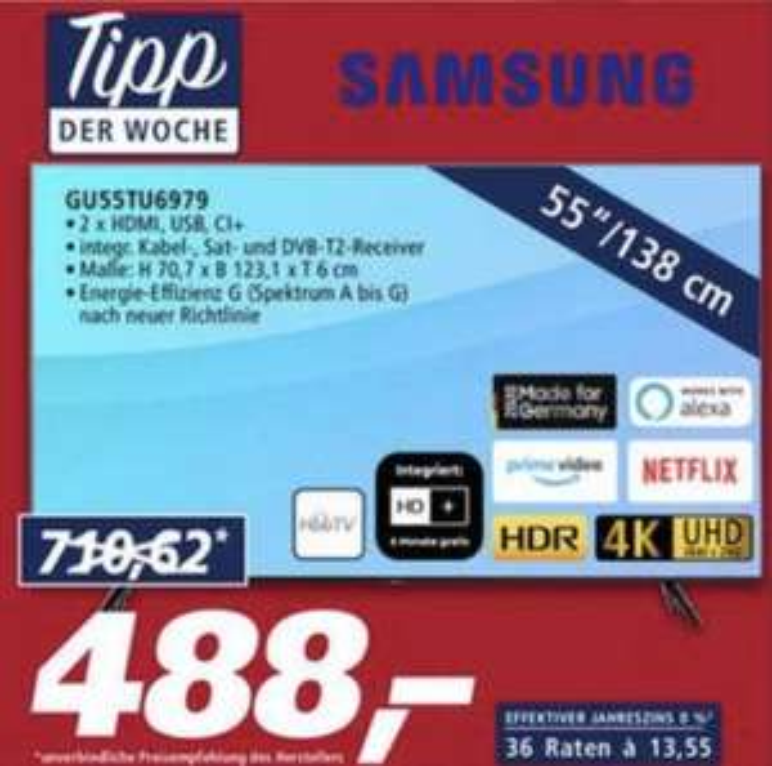 Samsung TV GU55TU6979 (Real Family&Friends)