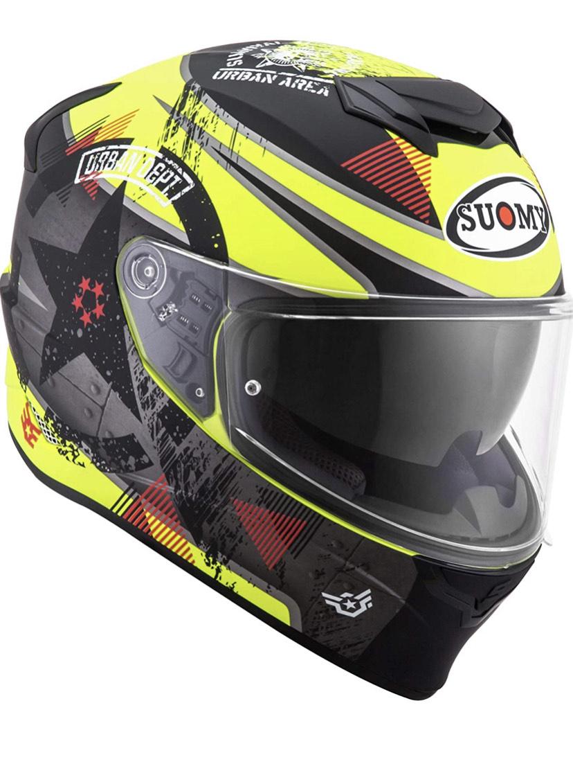 Suomy Helm Stellar Wrench, matt gelb/grau, S Motorradhelm