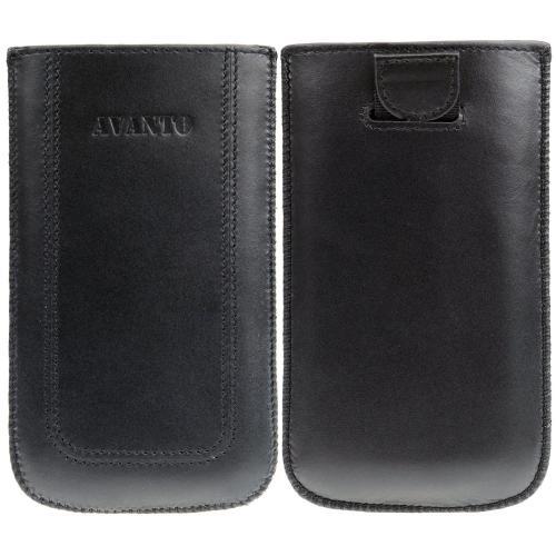 Echt Ledertasche Pouch Case Tasche Etui für Samsung Galaxy S3 GT-I9300 / GT-I9305 LTE (Lasche mit Rückzugfunktion)