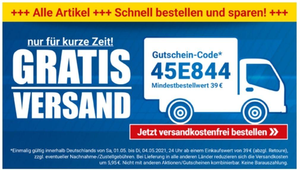 Pollin Versandkostenfrei ab 39 Euro mit Gutschein-Code: 45E844 bis 04.05