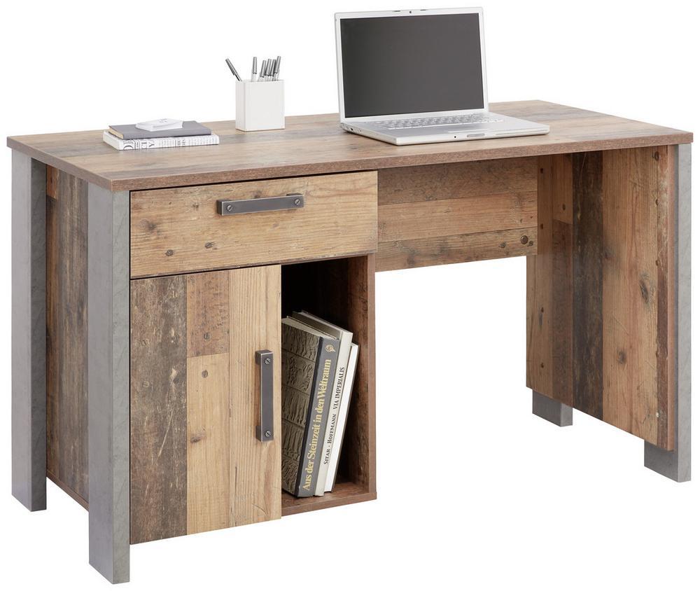 Schreibtisch in Braun/Dunkelgrau für 111,30€ (statt 189€)