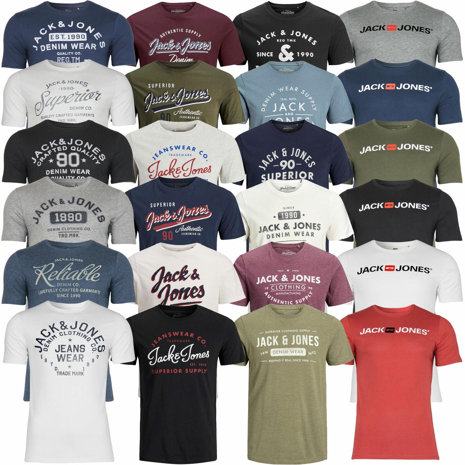 Jack & Jones Herren T-Shirt Rundhals Kurzarm Sport Clubwear Party für 10,50€ (statt 17€)