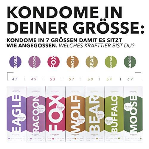 [Amazon.de] LOOVARA 42 vegane Kondome in unterschiedlichen Größen + Loovara Olé Olé Aloe Gleitgel 250ml BLITZANGEBOT für 8,49€