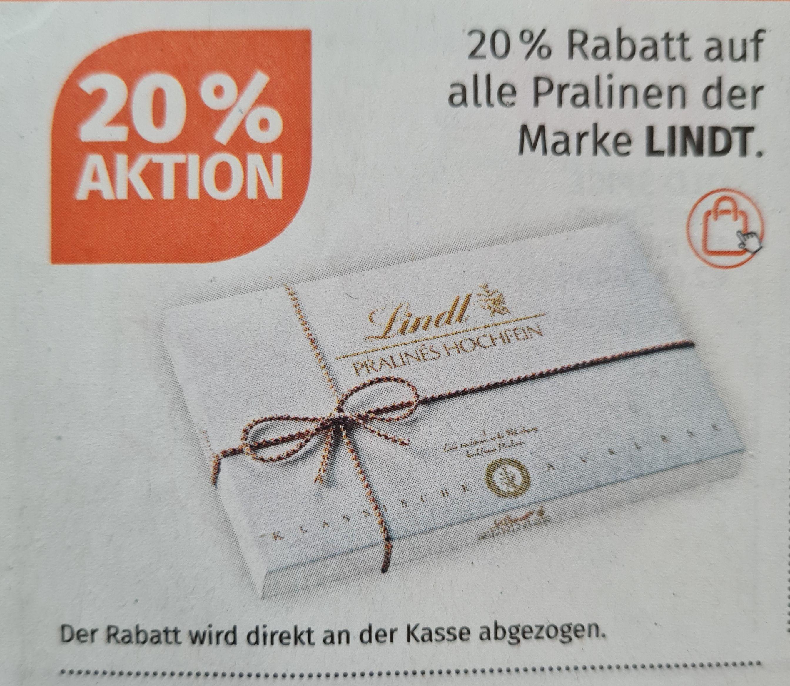 Müller 20% Rabatt Lindt, 30% Victoria Secret und 25% Bruno Banani