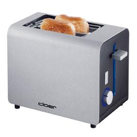[expert ONLINE] Cloer Toaster 3519 (825 W, 2 Toastscheiben, Brötchenaufsatz, Krümelschublade, mattiertes wärmeisoliertes Aluminiumgehäuse)