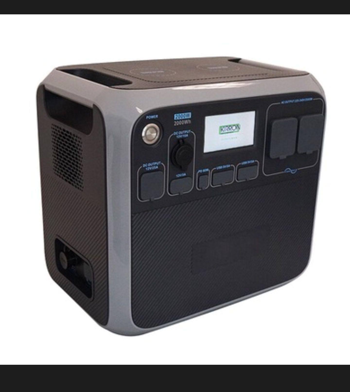(Nischendeal) Mobile AC + DC Powerstation KIRRON AC200P / 2000W Leistung / 2000Wh Kapazität (baugleich zur Poweroak AC200P)