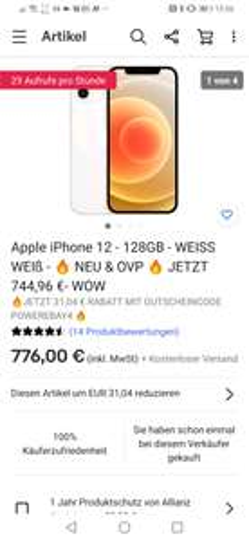 Iphone 12 128GB (differenzbesteuert)