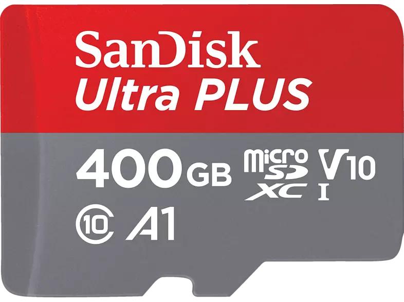 [Mediamarkt /Saturn] SanDisk Ultra microSDXC, 400 GB Speicherkarte, V10, U1 (Nicht für 4K geeignet!) inkl. SD-Adapter für 44,-€