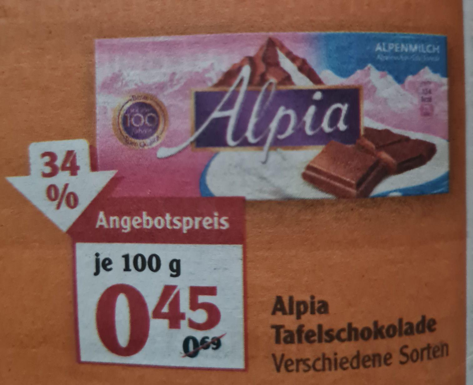 Alpia Tafelschokolade 100 g verschiedene Sorten UND Merci Finest Selection 400 g für 4,79€ statt 5,99€ ab 03.05 Globus