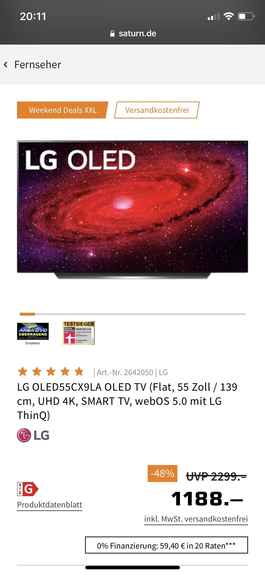 LG OLED55CX9LA, UHD 4K OLED Smart-TV
