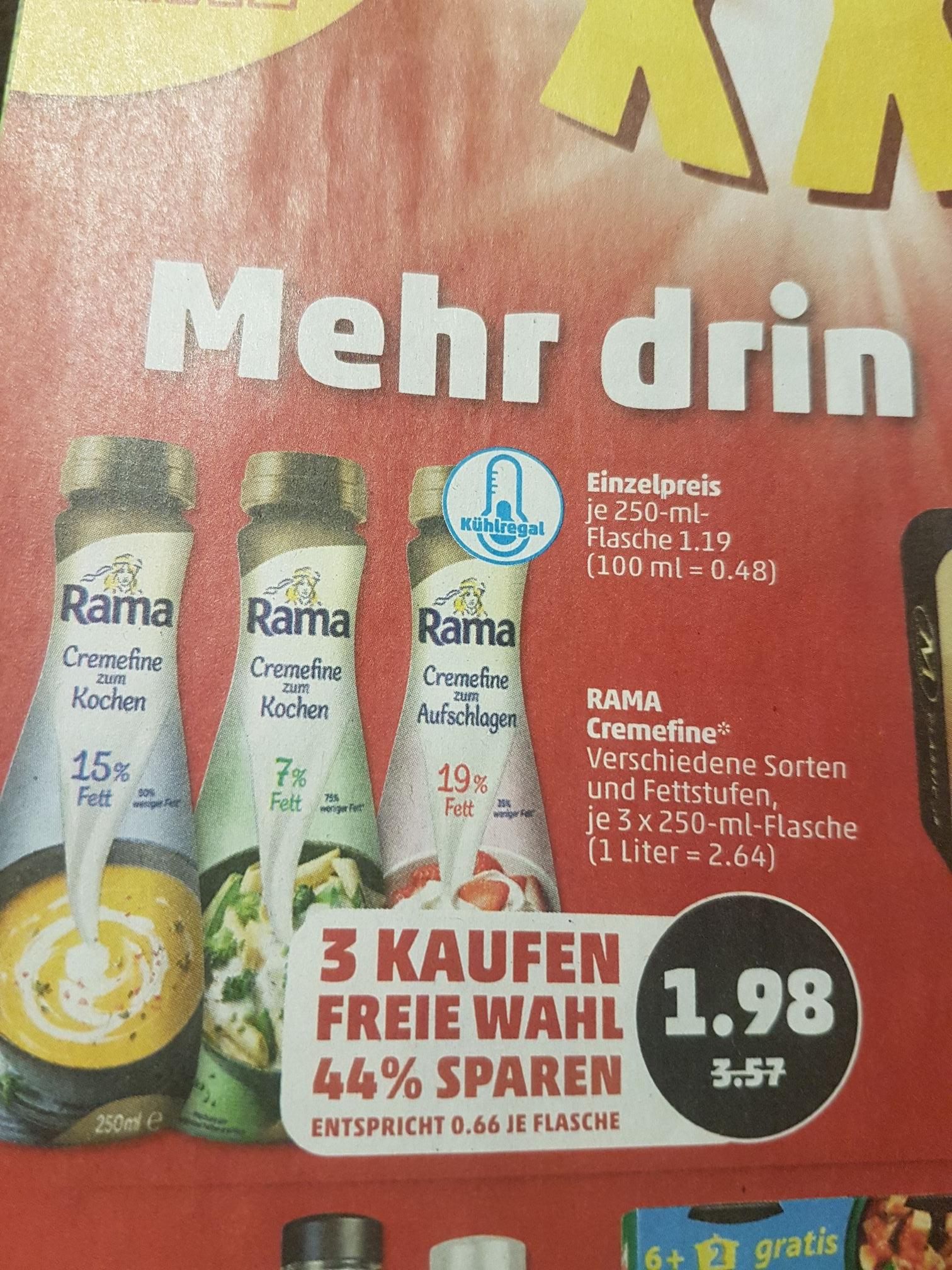 3x Rama Cremefine