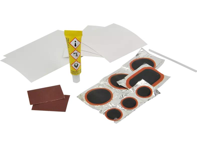 FISCHER Flickbox Universal 16tlg.Fahrrad-Schlauchreparatur & Weich-PVC, Gewebe und Kunstleder (Prime) MM/Saturn Abholung