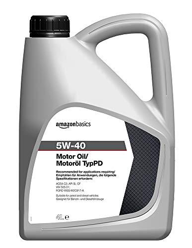 Amazon Basics Motoröl 5W-40 Typ PD 4L Kanister (EMPFOHLEN für VW 505 01 / Ford WSS-M2C-917-A)