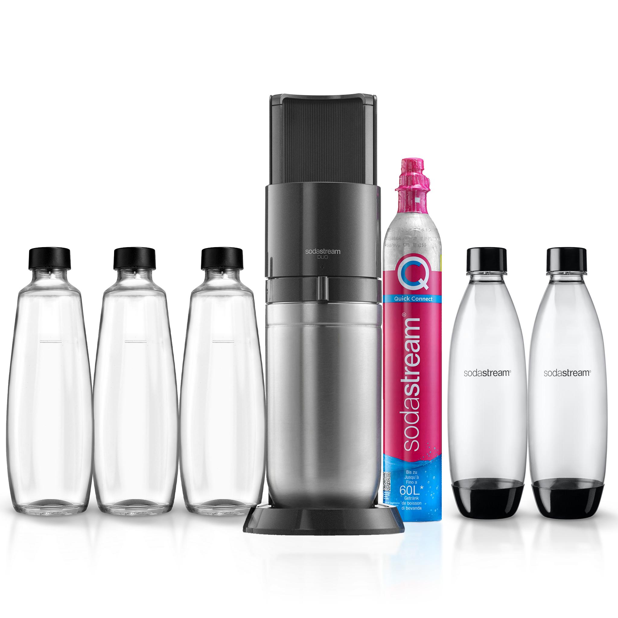 Sodastream Duo mit 3 Glas- und 2 Plastikflaschen (1l)