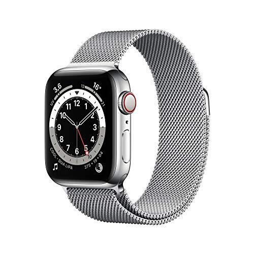 Apple Watch 6 Silber in Edelstahl, 40 mm, LTE, mit Milanaise Armband [Amazon.Es]
