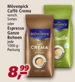 REAL Mövenpick und LaVazza Ganze Bohnen 1000 g verschiedene Sorten für je 8,99€ statt 13,49€ ab 03.05