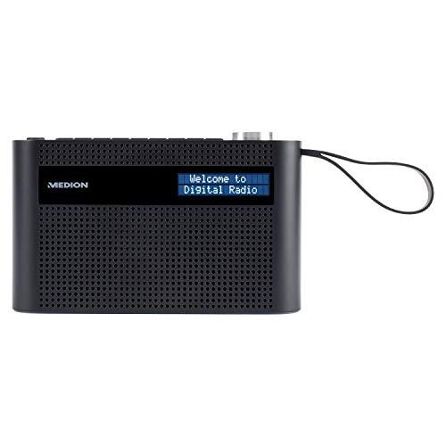 MEDION P66007 tragbares DAB+ Radio (DAB Plus, UKW, Bluetooth, 60 Senderspeicher, dimmbares Display, integrierter Akku, Teleskopantenne)