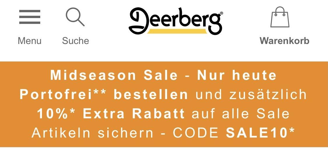 Deerberg Naturmode Sammeldeal Midseason Sale (-10% auf bereits reduzierte Artikel)