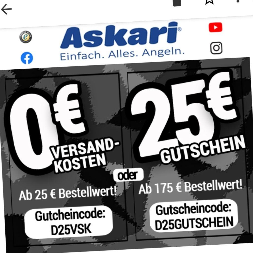 Askari Versand frei / 25€ Rabatt ab 175€ MBW