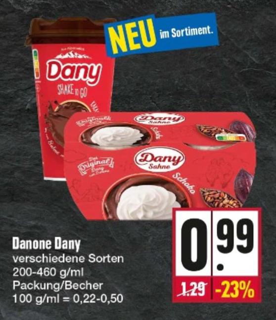 Edeka Nordbayern-Sachsen-Thüringen (anscheinend nur E-Center) - Dany Shake to go für effektiv 0,49€ dank Scondoo-Cashback