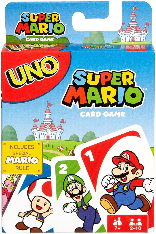 [Prime] Mattel Games DRD00 - UNO Super Mario Kartenspiel, geeignet für 2 - 10 Spieler, Kartenspiele und Kinderspiele ab 7 Jahren