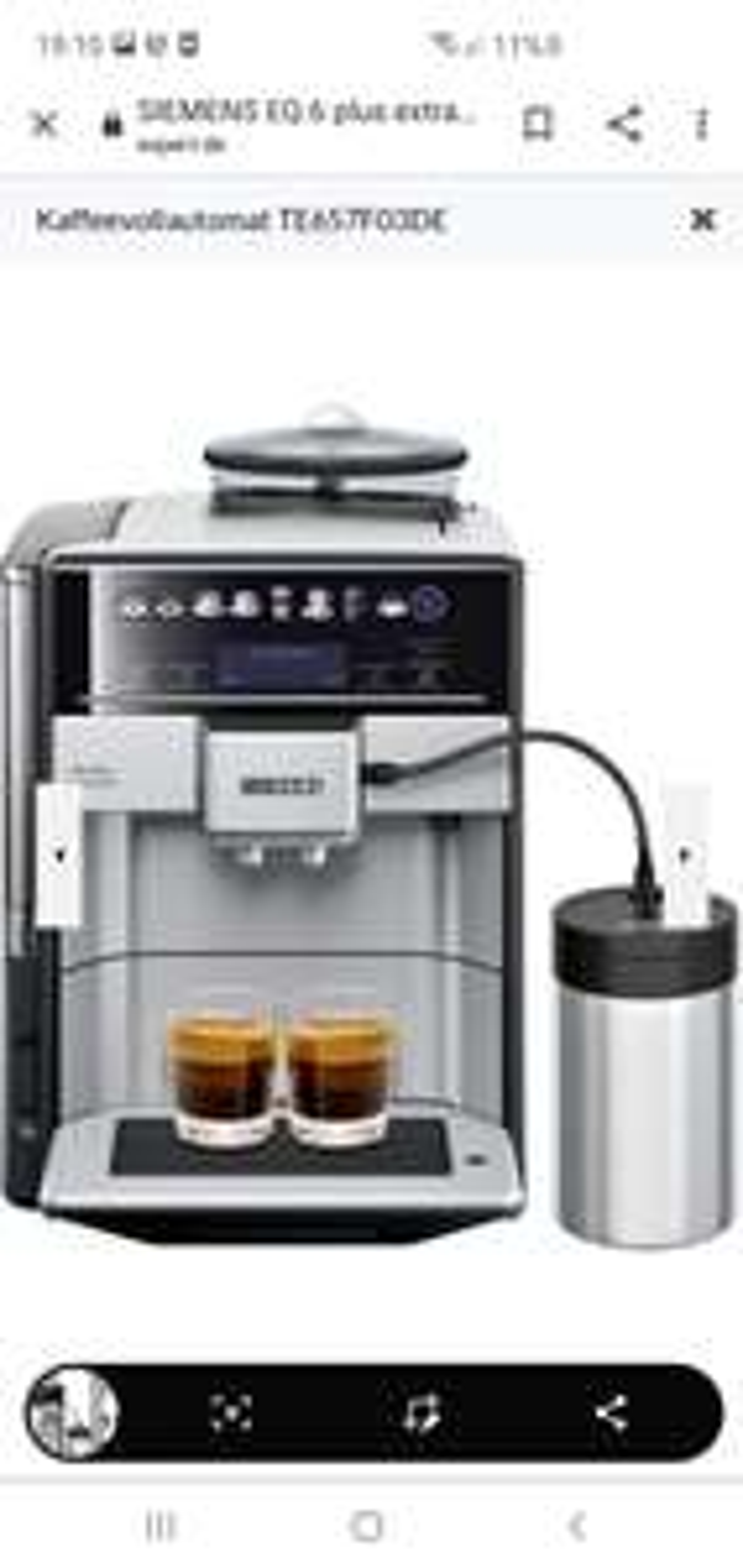 SIEMENS EQ.6 plus extraKlasse TE657F03DE Edelstahl, schwarz Kaffeevollautomat (expert Wangen)