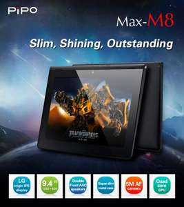 "Pipo M8 9.4"" Tablet (1.6GHz Dual-Core, 1GB Ram, 16GB, 1280x800 IPS)"
