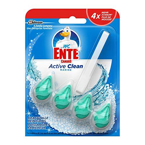 Amazon Prime: WC Ente Active Clean zum einhängen in die Toilette, 1er Packung WC Reiniger mit Marine Duft