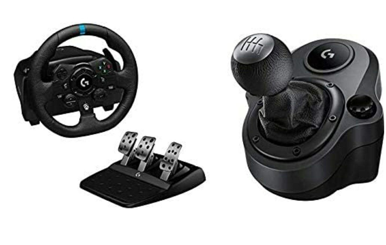 Logitech G923 TRUEFORCE Gaming Rennlenkrad mit Pedalen + Driving Force Schalthebel (kostenloser Versand für Prime Kunden)