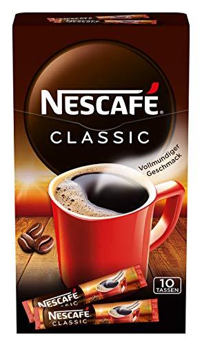 Amazon Prime: 4 Päckchen Nescafe Classic Sticks mit insgesamt 40 Portionen mit 2 Gramm Füllung je Stick, Einzelpreis je Kaffee : 8,4 Cent