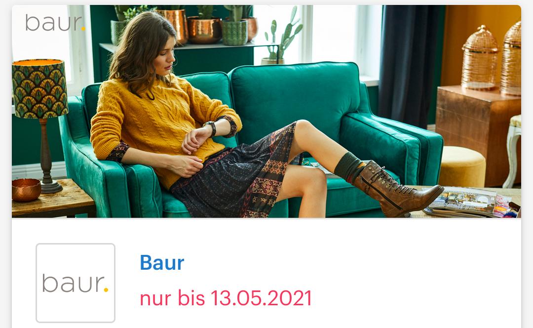 [ Shoop | Baur ] Bis zu 12% Cashback + 10€ Shoop-Gutschein* zum Muttertags-Spezial