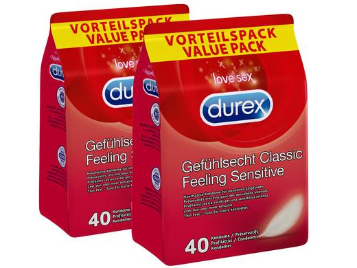 80x Durex Feeling Sensitive Gefühlsecht Kondome [iBOOD]