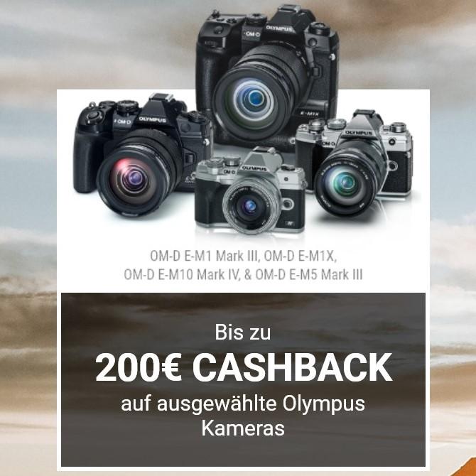 Olympus Cashback-Aktion: OM-D MFT Systemkameras (75€/100€/150€/200€)